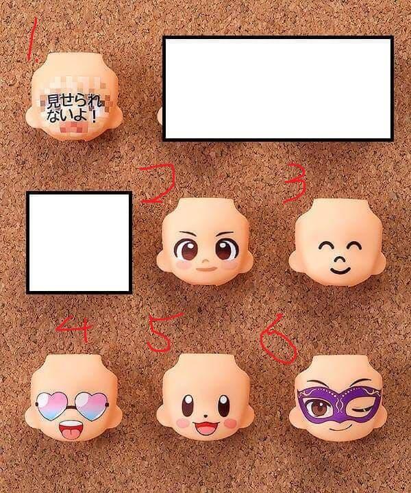 [盒魔勿進] 代理版 GSC 黏土人配件系列 替換用臉部表情04  單賣