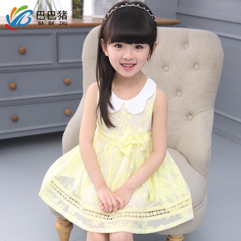 2016夏季韓版女童連衣裙小女孩純棉裙子童裝兒童公主裙背心裙夏裝