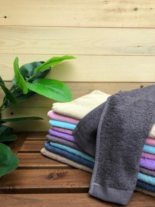 ((偉榮毛巾))100%純棉,素色素面運動毛巾