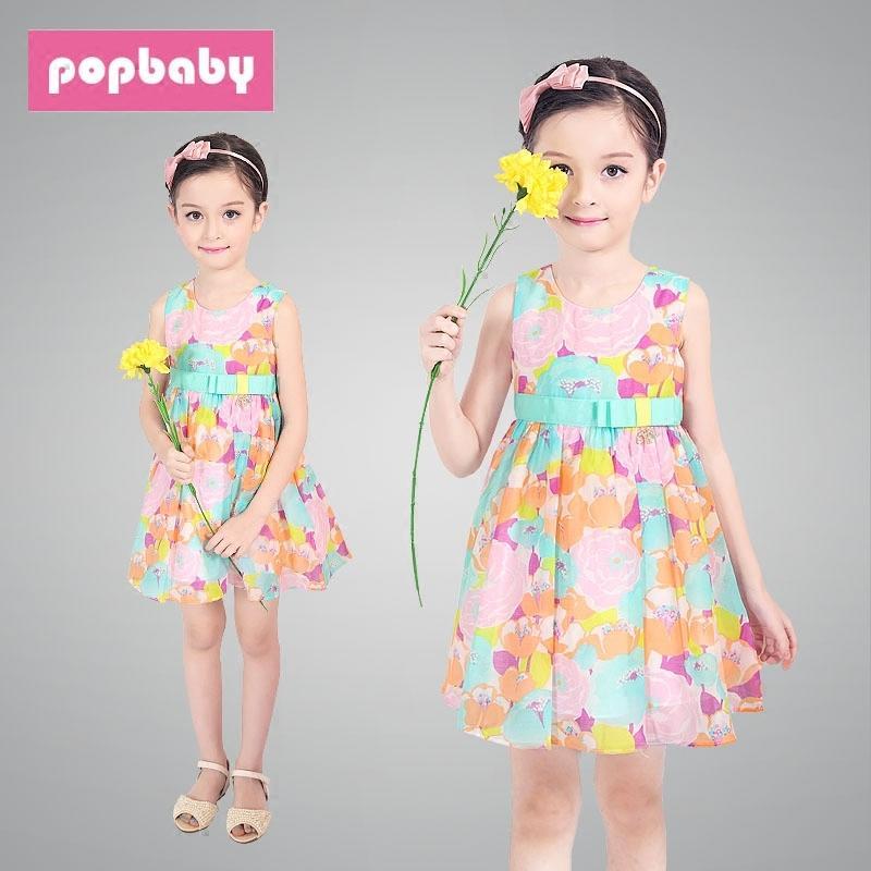 女童連衣裙夏季新款中大童韓版時尚吊帶裙純棉印花兒童公主裙夏裝