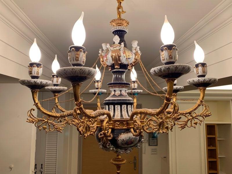 天使陶瓷吊燈