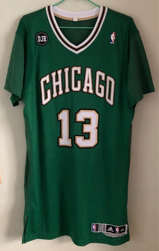 NBA St. Patrick's Day Joakim Noah Chicago Bulls 聖派翠克雙標GUGI球衣