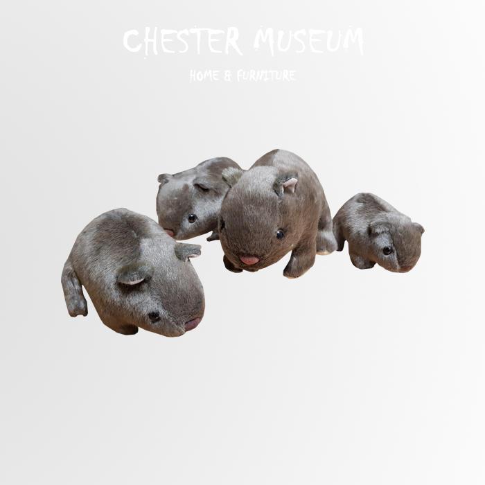 【現貨】肥老鼠一家人 老鼠 抱枕 老鼠抱枕 靠墊 坐墊 靠墊 仿真 抱枕 仿真 抱枕 公仔 賈斯特博物館 婚禮小物