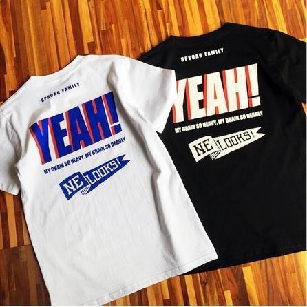 2016新款潮牌 YEAH 嗨起來 情侶男女純棉短袖T恤