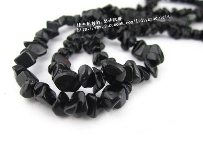 DIY 配件 手創材料 黑石 天然碎石 80cm 特色造型串珠 整串