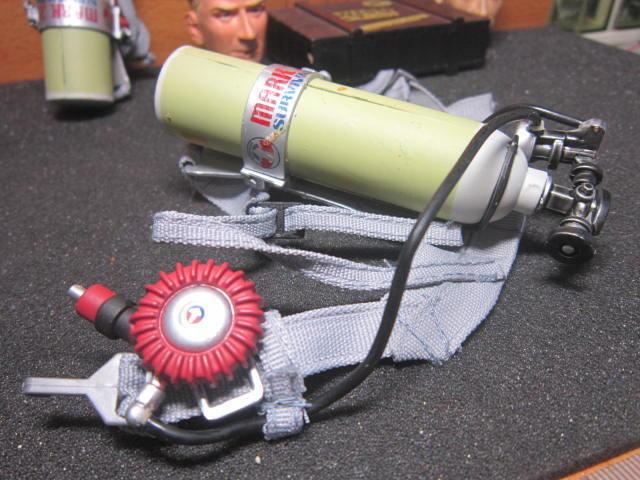 DH6Z消防部門 打火兄弟火場用1/6氧氣瓶背架組一副(附調節連管)