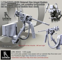 Live Resin 1/35 LRE-35333 GAU-18 M2 Version for UH60
