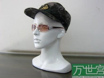 高質量人頭模璃鋼頭模/女性頭模/模特頭/假人頭(黑色)