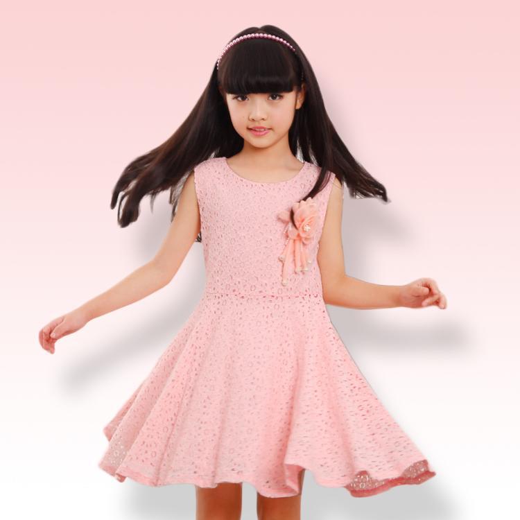 童裝女童連衣裙2016新款夏季韓版兒童純棉裙子小女孩子公主蕾絲長