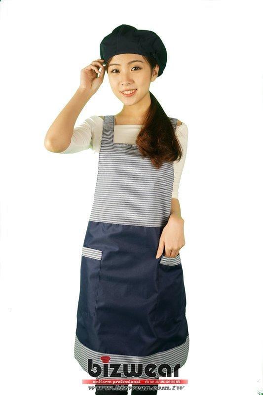 【食尚家】-專業餐飲圍裙/商業專用/烘焙坊/經典格子配色圍裙CM-A08