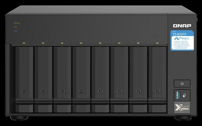 【時雨小舖】QNAP NAS TS-832PX-4G網路儲存伺服器(附發票)