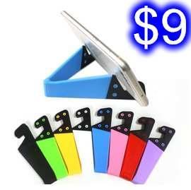 V型手機平板通用款支架 三腳折疊彩色支架 平板電腦/蘋果/三星多功能創意折疊支架