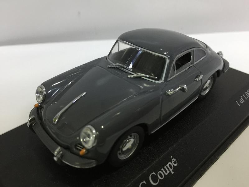 【多金魚】二手 MINICHAMPS 1/43 PORSCHE 356 C COUPE GREY
