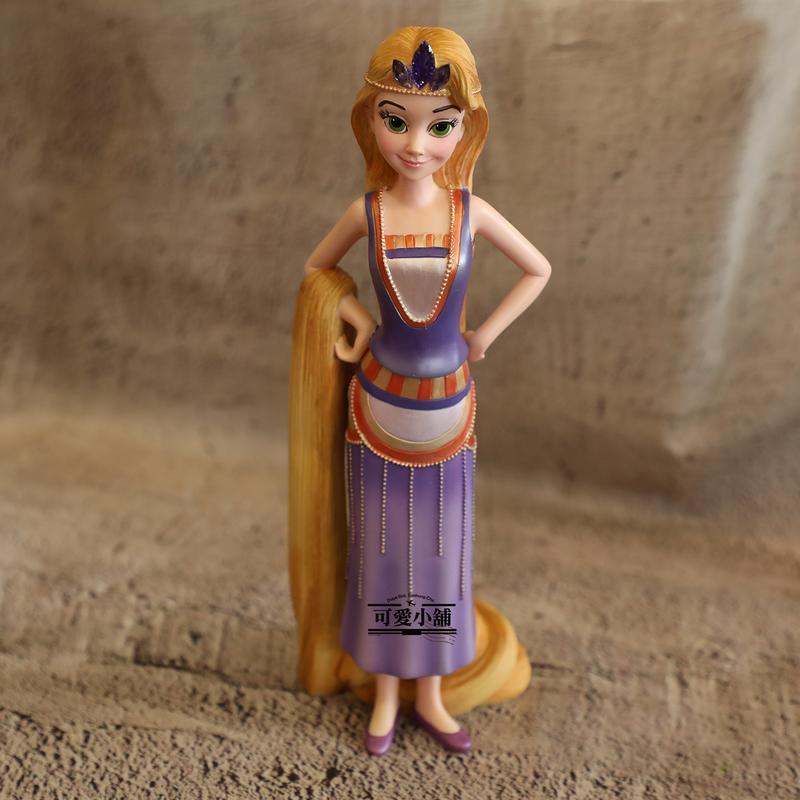 (台中 可愛小舖)迪士尼公主系列-魔髮奇緣Tangled長髮公主樂佩Rapunzel長髮姑娘公仔飾品擺飾個人收藏送禮