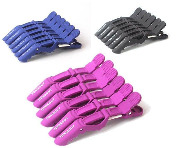海上花●優質鴨嘴夾/美髮設計師專用磨砂系列-鱷魚夾怪獸夾-6入一組