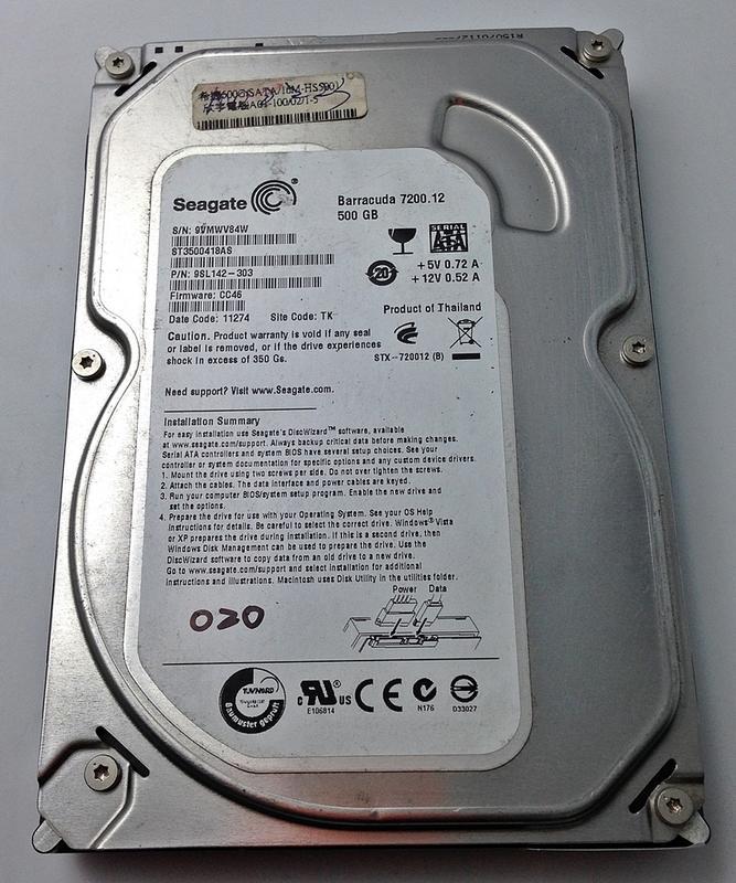 【冠丞3C】希捷 SEAGATE 500G 3.5吋 桌上型 SATA ST3500418AS 硬碟 S-020
