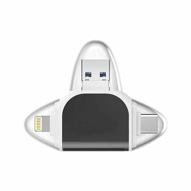 四合一讀卡機 適用 Micro USB Type-C iPhone OTG SD TF 記憶卡讀卡機 手機電腦讀卡器
