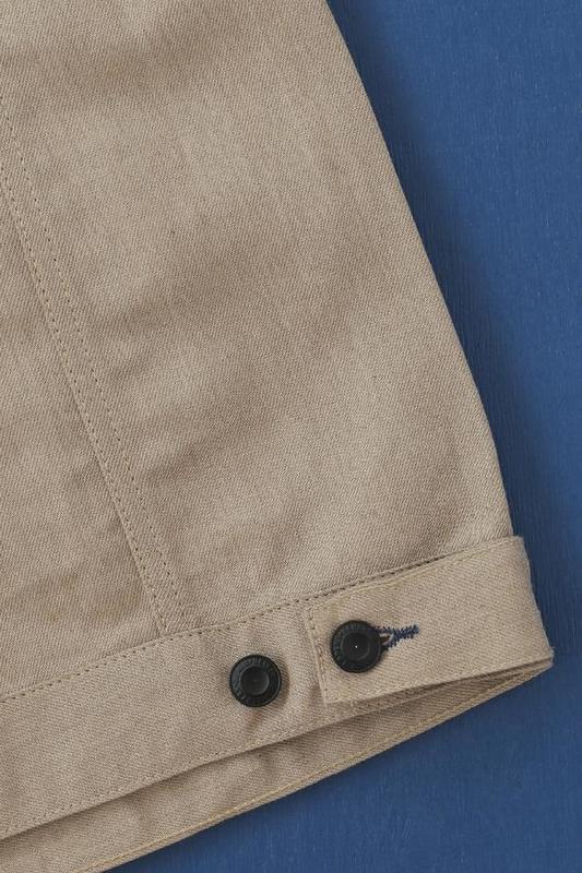 【BDD荷蘭職人品牌】BDJ-01 改良一二代牛外 義大利製 頂級棉麻布邊 / XS-XL