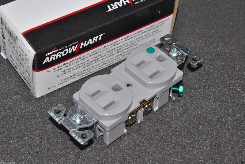 美國COOPER 8200GY 15A 125V NEMA 5-15 DUPLEX型 灰色 醫療級插座