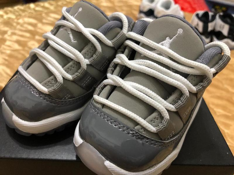 5f4b96663be JORDAN 11 RETRO LOW 2C Cool Grey 505836-003 酷灰Baby 喬丹嬰兒鞋 ...