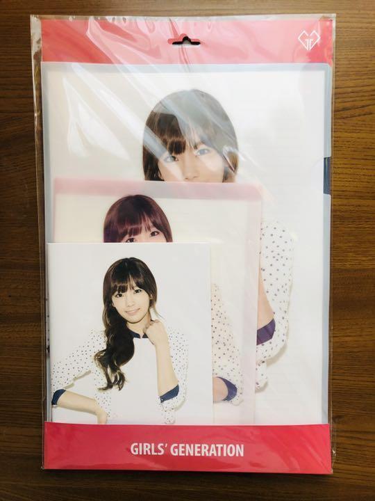 【現貨】少女時代 SNSD 太妍 文具組 A4資料夾 + A5資料夾 + 迷你筆記本 韓國SM 官方周邊