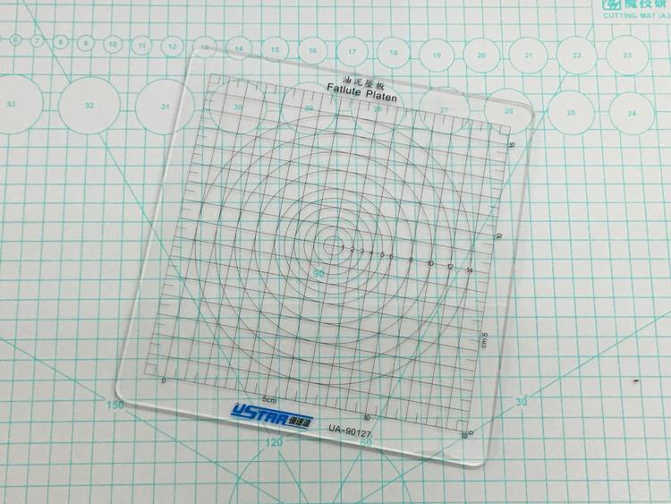 【汽車模型-免運】優速達拼裝模型高達手辦制作工具 油泥墊板壓板 高透耐磨 UA90127