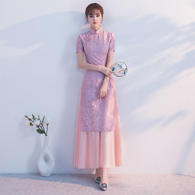 奧黛旗袍2017新款越南學生少女日常時尚正宗改良版中國風長款秋冬
