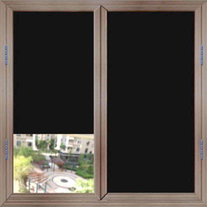 黑色玻璃貼膜遮光防曬不透光遮陽不透明玻璃貼紙隔熱窗戶貼紙防爆