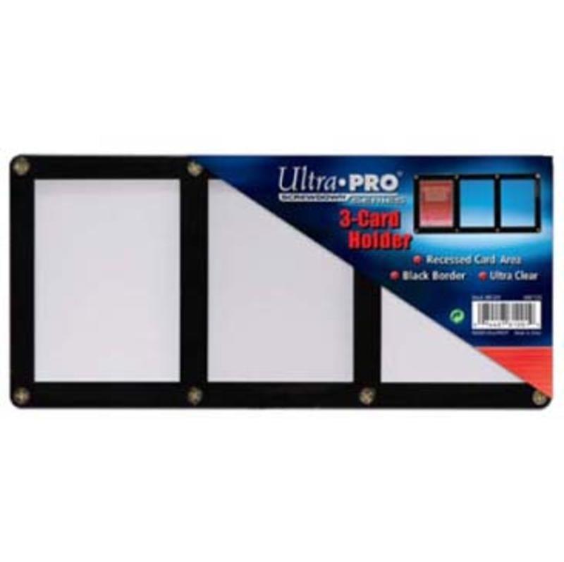遊戲王 Ultra PRO 三聯式黑邊框壓克力夾 壓克力板 卡磚 展示架 神奇寶貝 WS VG NBA MLB EP19