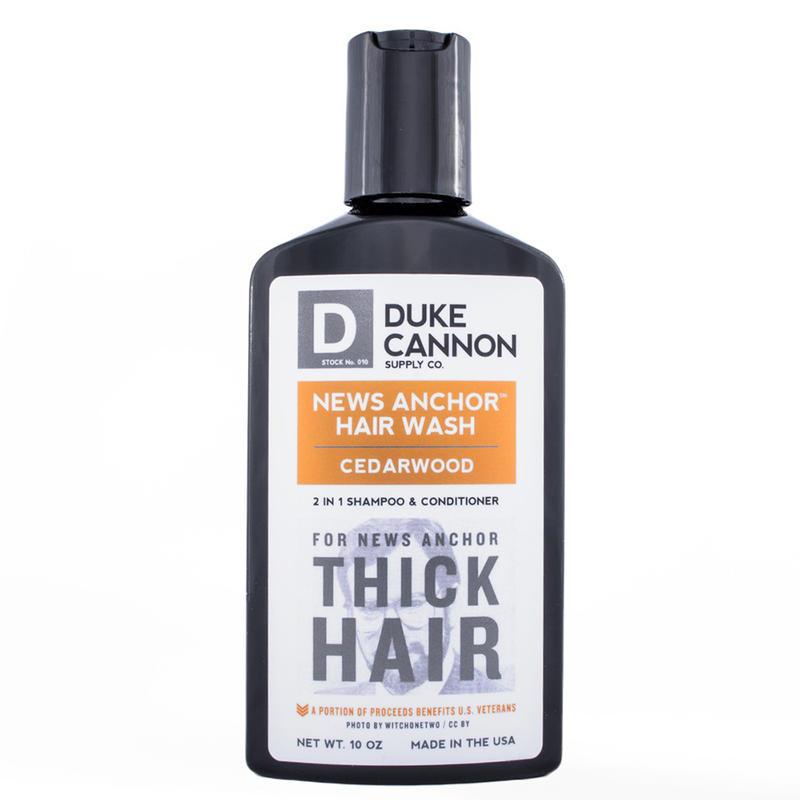 Duke Cannon - News Anchor 2-1 Hair Wash「雪松配方」洗髮精 - LTS 現貨
