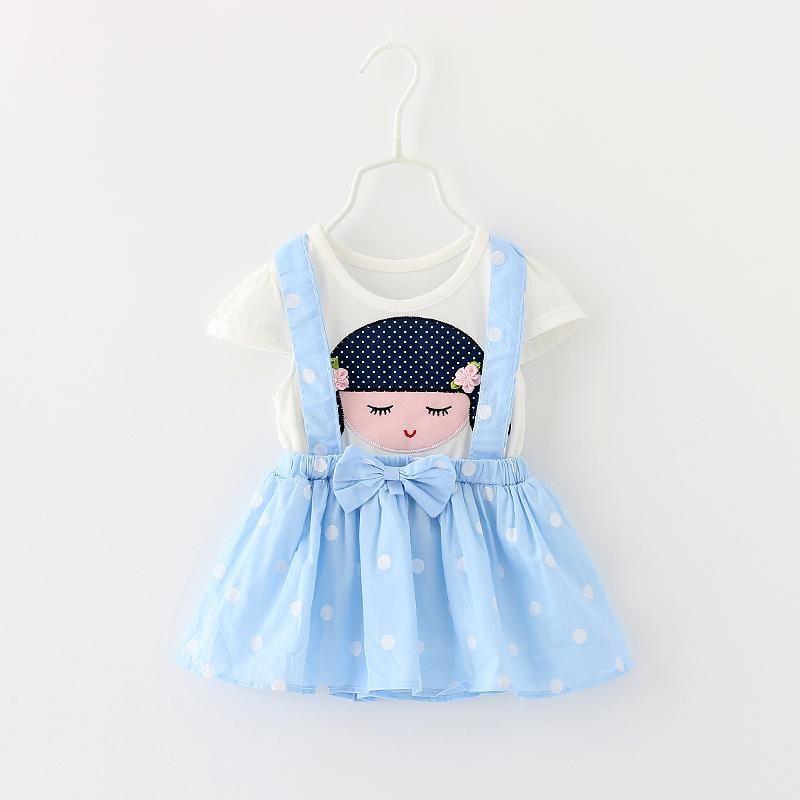 2016夏季新款0-1-2-3歲女寶寶連衣裙女童夏裝嬰兒純棉公主裙紗裙