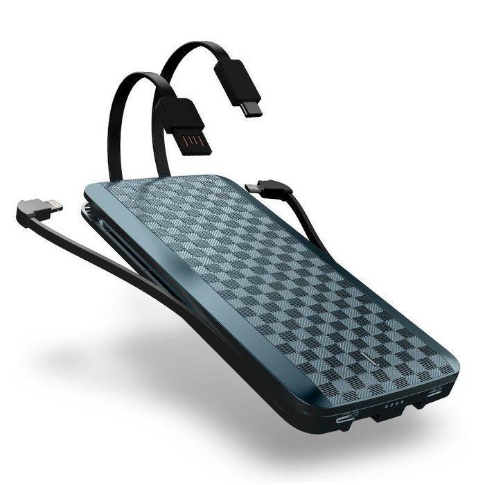 iwalk充電寶自帶線蘋果type-c華為三星oppo手機通用便攜6移動電源