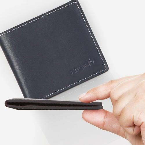 男皮夾 韓國空運正貨 FROMB 真皮輕薄錢包皮夾皮包錢夾 2折短夾小錢包流行男包男夾 二色