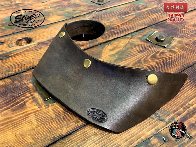 《美式工廠》Sting Leathe 厚牛革 真皮帽簷 大型 BR CHIFE 海鳥 山車 500TX BELL