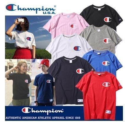 三免運2017夏季新款潮牌冠軍Champion Supreme Dickes Stussy 短袖 短T 男女 純色T恤
