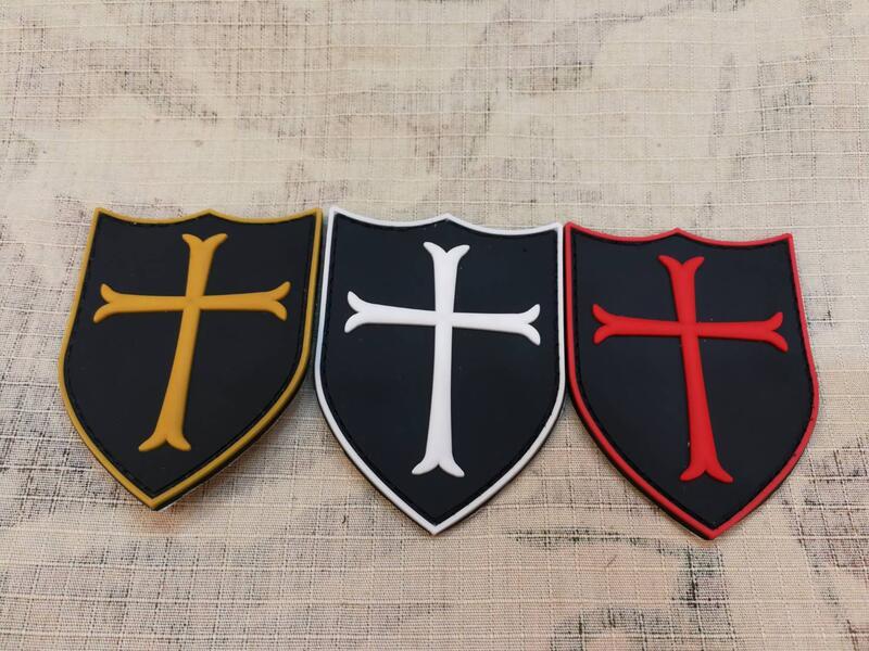 《中華玩家》PVC軟膠章系列-十字軍 聖殿騎士團**背面已車縫魔鬼氈公面**