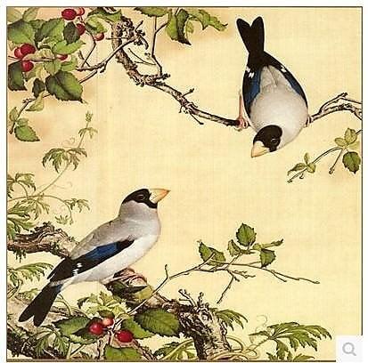 【幸運星】花鳥 風水畫 絲綢畫 無框畫 國畫 送禮 辦公室居家客廳裝飾畫 送禮 60*60公分 0905 25