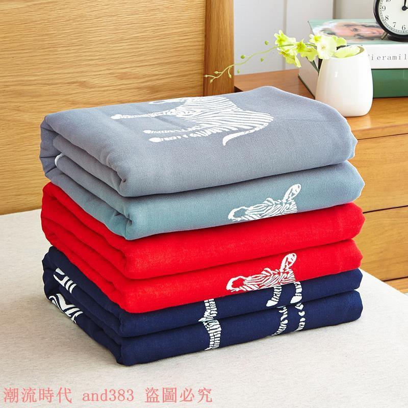 夏季蓋毯純棉毛巾被三層紗布毛巾毯子單人雙人午睡空調毯薄款夏被