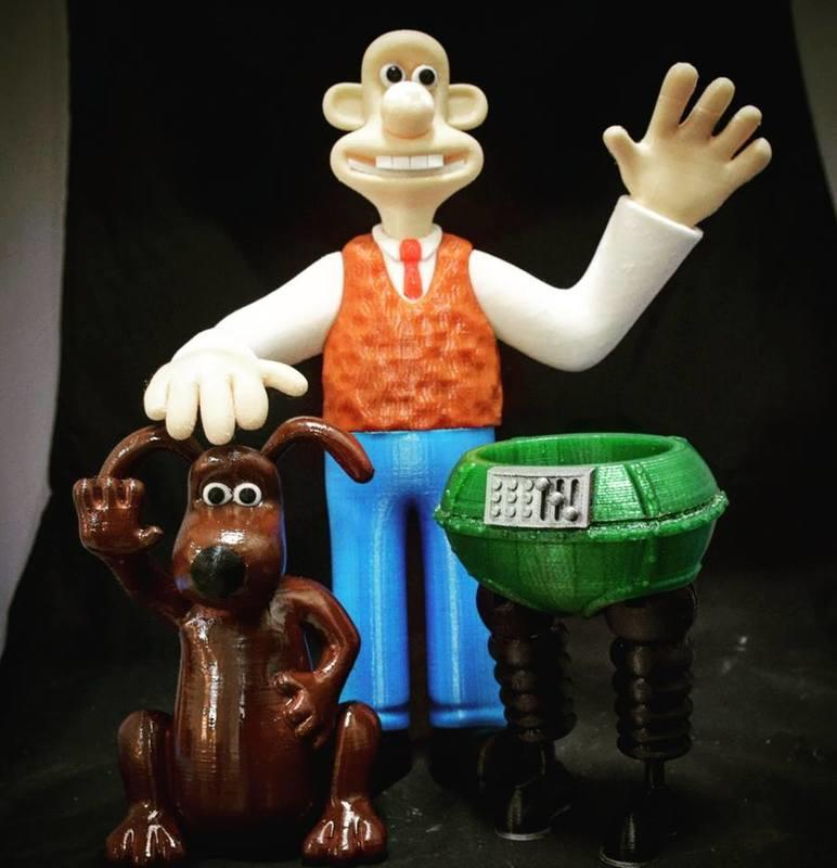 [Roadies] 英國劇Wallace and Gromit 3D列印公仔