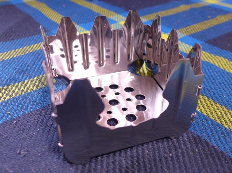可拆式柴火爐不銹鋼 釣魚 野營 木柴爐 折疊酒精爐架 (類 Esbit ) 煮飯神器 炊飯神器