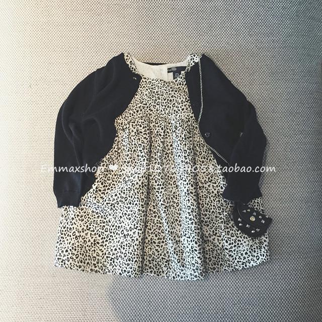 16夏季新品家女童純棉豹紋連衣裙兒童女寶寶全棉無袖背心裙