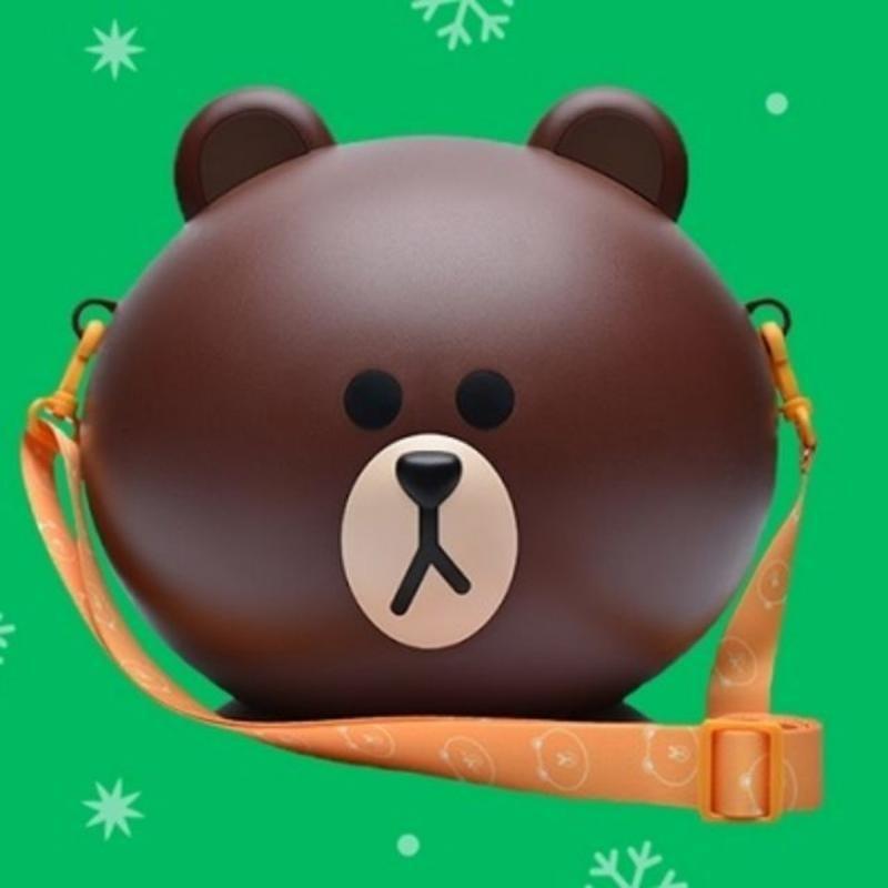LINE 熊大 爆米花桶