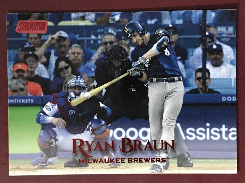 2019 Stadium Club Red Foil #136 Ryan Braun 紅標 釀酒人隊