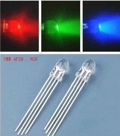 【傑森創工】4腳 5mm RGB LED 3顆 共陰 直插 LED 燈 可全彩 Arduino
