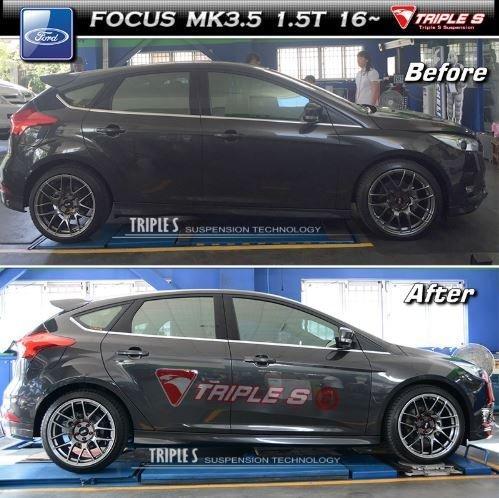 CS車宮車業 TRIPLE S TS 短彈簧 TS短彈簧 福特 FORD FOCUS MK3.5 1.5T 16年~