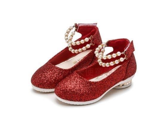 現貨貴族派超流行珠光寶氣典雅女童童鞋公主鞋涼鞋拖鞋女童鞋花童鞋27-35