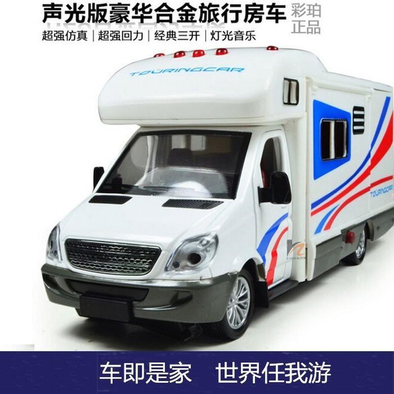 【佩斯多PRESTO】彩珀汽車模型 1:18 豪華旅行車 露營車 房車 聲光回力車