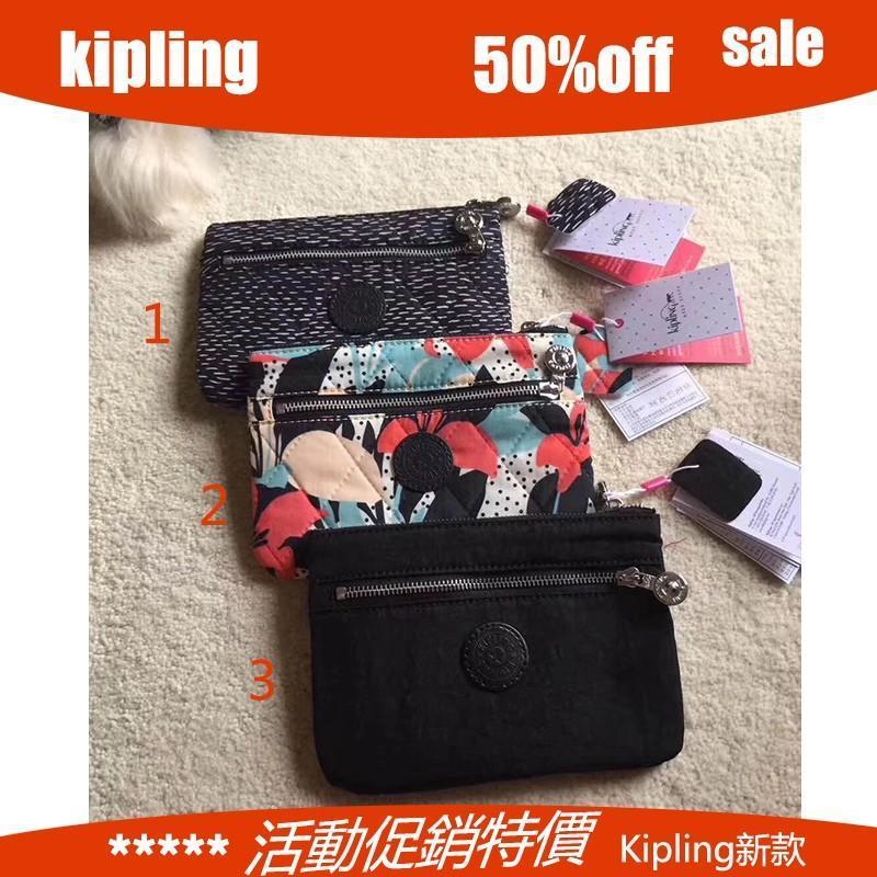 Kipling 手拿包 零錢包 女款錢包 黑色 拉鏈款 大號手包 女包 熱賣款