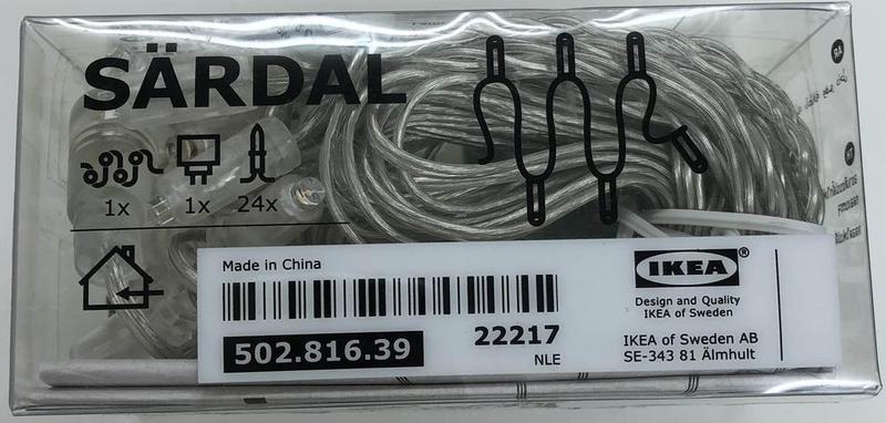 全新現貨 IKEA Sardal 24 LED 燈飾 (附ADP電源供應器) 3組以上免運費