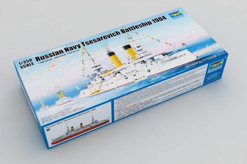 """現貨 1/350 TRUMPETER 俄羅斯海軍""""皇太子""""號戰列艦1904年 05338"""